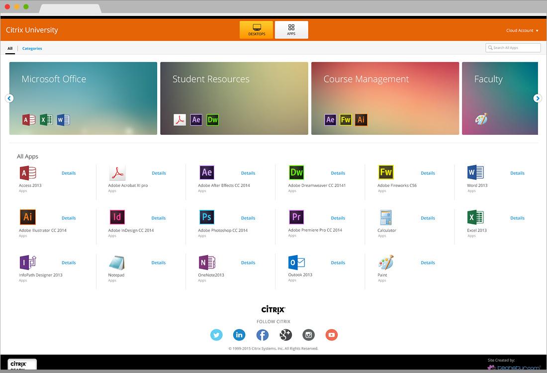 Citrix University – StoreFront Custom Interface Design