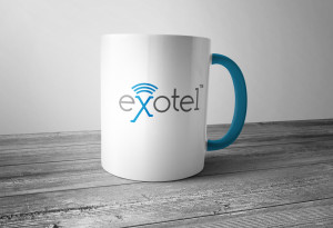 Exotel Logo on Cup