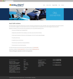 Easy Claim Web Site InnerPage